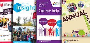 An image of 4 Alliance Homes publications