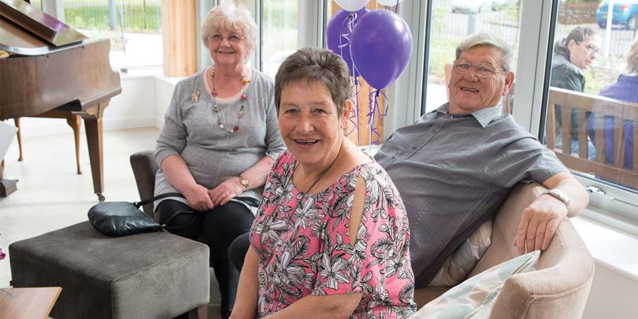 Residents at Tamar Court enjoying the grand opening celebrations