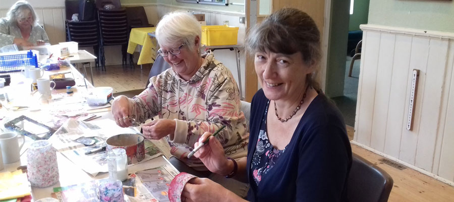 Arts & Crafts with carers during Carers Week